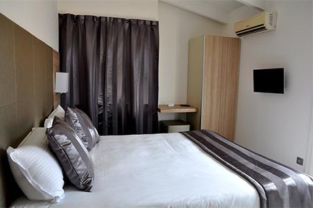 une chambre de L'Escale, hôtel 3 étoiles à Ile Rousse en Corse